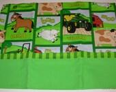 """John Deere Custom Embroidered Child's Pillowcase """"John Deere"""" standard size"""