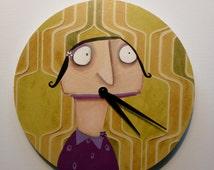 Hand painted Kitchen Wall Clock Edna Pigorsky 30 cm Wallpaper-Art