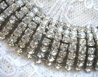 Vintage Wtde Rhinestone Bracelet