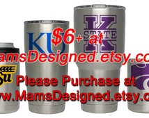 KU, K-State, WSU Vinyl Decal Buy here http://etsy.me/2abLF0q | Yeti | Water Bottle | Cup | Laptop | Phone | Tablet | Custom Decal