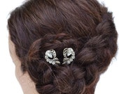 Bridal Bobby Pins, Rhinestone Hair Pins, Diamante Slides, Vintage Bobby Pins, Rhinestone Bobby Pins, Wedding Headpiece, Bridal Headpiece