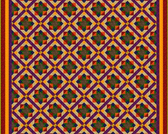 """TUTTI FRUTTI - 115""""x 115"""" King or 95""""x 95"""" Queen - Quilt Addicts Precut Quilt Kit or Finished Quilt"""