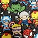 Kawaii Marvel packed Characters Avengers CP49081 cotton quilt fabric Iron Man, Captain America, thor, Hulk, Spider Man, Hawkeye