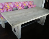 Gus and Talytha - Modern Rustic Trestle Dining Table