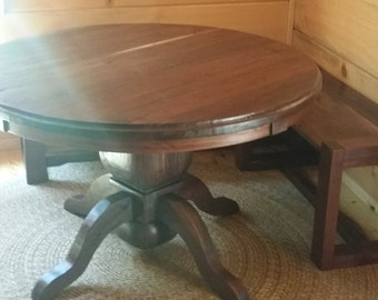 Round Dining Table Walnut