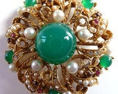 vintage ART signed ArtMode ModeArt gold tone pin brooch