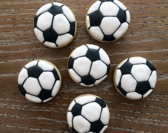2 Dozen Mini Soccer Ball Sugar Cookies