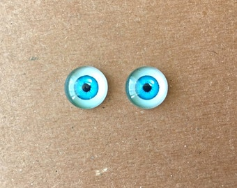 doll Glass eyes flat back 10 mm diameter 6 mm iris