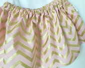 Skirt with metallic gold, choose from 5 fabrics
