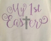 My first Easter onesie, first Easter baby girl onesie, baby girl Easter Onesie