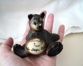 Cute Old Bear Souvenir Colorado Springs Colorado Paunchy the Bear