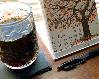2016 Desk Calendar with Display Case - Seasonal Desktop Calendar