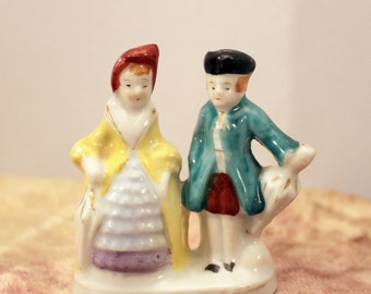 Colonial Couple Miniature Figurine Occupied Japan Courtship Romance