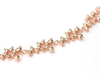 Dopamine Molecule Necklace - Gold or Rose Gold Vermeil.