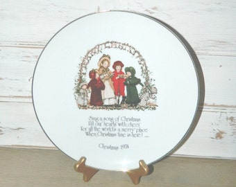 Vintage Holly Hobbie Christmas Plate - WWA Commemorative Edition - 1974