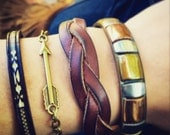 Arrow Layering Bracelet / Antique Brass Bronze / Pick your Size / Boho Jewelry Hippie Bohemian Festival Wear
