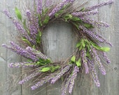 Spring wreath,  Heather wreath,  twig wreath.