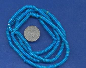 "36"" strand of 5mm bone beads:  Blue"