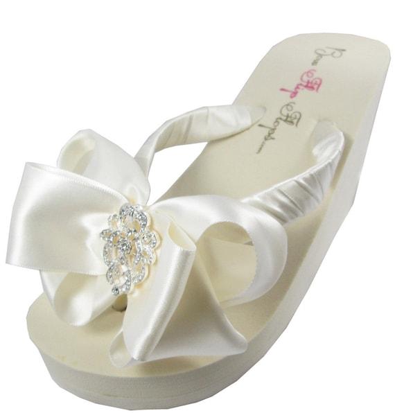 Brides Wedding Flip Flops Bridal Party By BridalFlipFlops