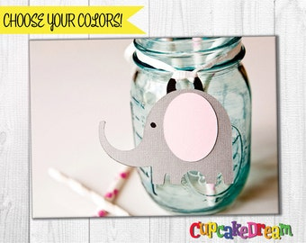 Elephant Baby Shower, Birthday Party, Gift Tag Label