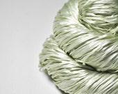 Fading ghost of a leaf OOAK  - Silk Tape Lace Yarn - SUMMER EDITION