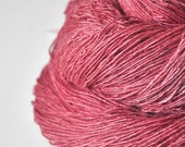 Rose coral lying on the shore - Tussah Silk Fingering Yarn