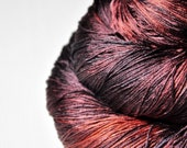 Lava bursts OOAK -  Silk Lace Yarn