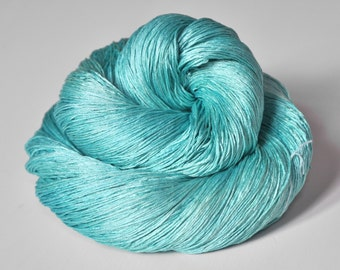Cyan which must not be named - Silk Lace Yarn