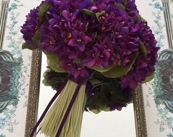 Grand Wild Violets Brides Bouquet