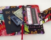 Dollbirdies Small Passport Wallet with Zipper Pocket and ID Window