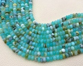 Promotional Price,6mm Size,Brand New, Full 8 Inch Strands,Peruvian Blue Opal Faceted Rondelles Beads, Amazing Item at Low Price