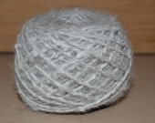 Pure Angora Rabbit Fiber -Hand Spun Mini Yarn / Grey