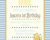 Winnie the Pooh classic invitation - 1st birthday, baby shower, Disney, birthday, birthday invite, twin birthday