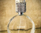 Store Wide Sale Perfume Bottle Display- Chanel Chance Perfume Bottle- Vanity Display- Home Decor- Bathroom Accessory- Vanity- Rhinestone Cry