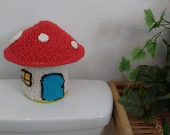 Crochet Mushroom Bathroom Tissue Cover