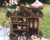 Layaway Available Dollhouse Miniature Fairy Sweets Cabinet Cupboard