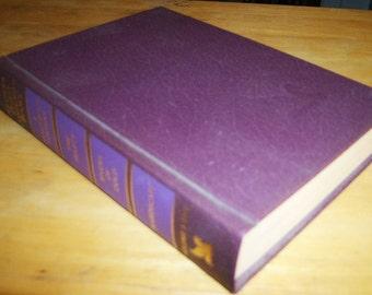 Readers Digest Condensed Books Volume 3 1994, purple ish burgandy book decor, vintage book decor, vintage wedding decor