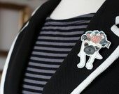 Cute Pug Brooch Adorable Pug Pin