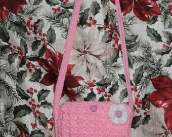 Hand Crocheted Pink Girl's Purse