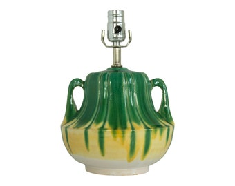 Green & Yellow Gourd Table Lamp