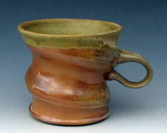 WOOD-FIRED MUG #15 - Coffee Mug - Woodfired Mug - Anagama Mug