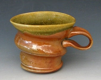 WOODFIRED COFFEE MUG #4 - Woodfired Mug - Woodfired Cup - Stoneware Mug - Pottery Mug - Studio Pottery