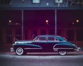 Photo, Classic Car Decor, Vintage Cadillac Car, 1940's era, New Orleans Photography, French Quarter Art, Large Wall Art, Fine Art Print