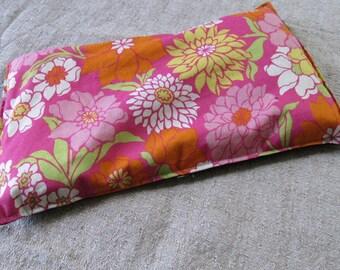 Pink Flowers Reusable Rice Heating Bag