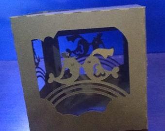 DIY Lovebirds wedding ornament box set of four