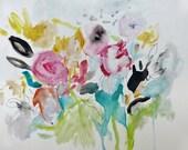 Le Fleuriste- Mixed Media- 9x12- Fresh Abstraction