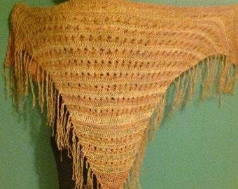 Golden Beige Warm textured shawl