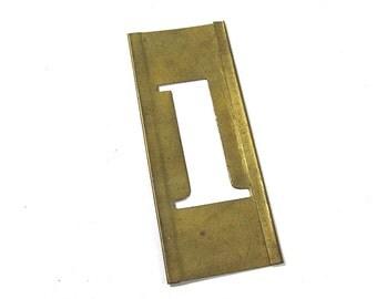 "1 1/2"" Number 1 One VINTAGE Brass Stencil #1 Scrapbooking Altered Art Assemblage Mixed Media Art Supplies Brass Stencil Number 1 (S293)"