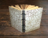 Spiderweb SpellBook Journal, Halloween Guest book, Themed Gold Foiled Notebook, Gothic Writing Journal, Fall Hostess Gift