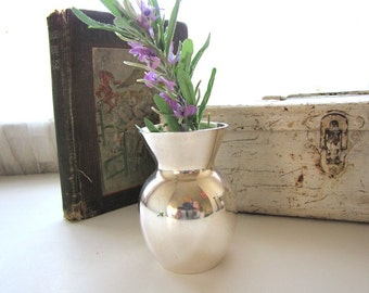 Vintage Silver Bud Vase Small Silver Vase from AllieEtCie
